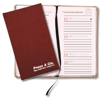 AGENDA SMALL VERTICAL WIRE-O PERCALUX